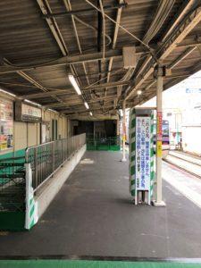 京成大久保駅、仮駅舎利用が始まりました