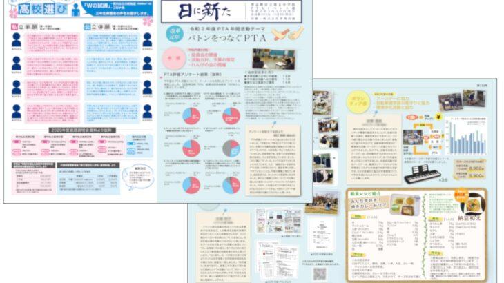 千葉県習志野市立第七中学校様「PTA広報紙」